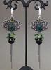 Fjordane (Anyeline_jewelry) Tags: earrings boho emerald peridot smokeyquartz wirewrapped chalcedony silverjewelry silverearrings brightearrings metalsmithed earringswithstone
