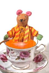 Harry the Rat enjoying a cup of tea (krapzapper) Tags: china cup strange weird rat pentax tea drink wildlife humor humour odd soak cha saucer englishbreakfast k3 krapzapper srilankanrat