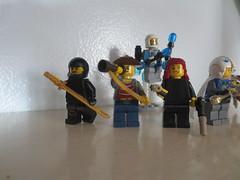 Minifigure Team Alpha Left Side (AlienHunter143) Tags: girl team lego action ninja group pirate spy scifi alpha minifigure