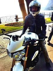 Winter bikers (Stefano L []) Tags: speed bikes triumph moto triple bikers iphone motociclista speedtriple motocicletta stefanoluraschi