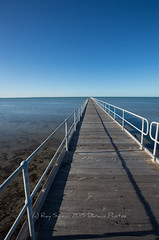 Port Germein Jetty (Ray Swann) Tags: red port gum gulf timber jetty south australia spencers longest watersea germein