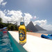 Piton Beer with Pitons in background
