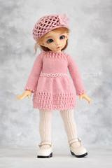 Outfit for YoSD (Maram Banu) Tags: pink flower doll dress handmade bjd fairyland ante yosd littlefee fairystyle marambanu