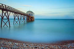 Selsey Lifeboat Station (-*HJS*-) Tags: beach beacheslandscapes bigstopper boat canon clouds coast colours dusk england fullframe groynes landscape lowlight leefilters longshutterspeed manfrotto ngc ocean pier reflection sea seascapes slowshutterspeed sky sunset splash sussex tripod tide water waves 5dmk2 1635mm 2016