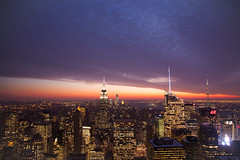 Manhattan from the Rock (Bradley N. Weber) Tags: newyorkcitysunset newyorkcity manhattansunset manhattanfromtherock rockefeller manhattanlights development massive population nycskyline manhattanskyline beautifulmanhattan earth artificialandnaturallight light illumination