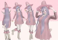 Sweet Pink Magic (SerenitySemple) Tags: secondlife furry fashion shirotsuki fluffyandfierce fluffyfierce asteroidbox nightmare ayashi fantasycollective barerose lostjunction gacha mokyu maitreya anime animehead kawaii halloween