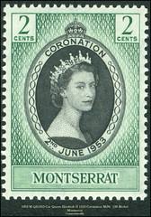 5202 M QE1953 Cor Queen Elizabeth II 1953 Coronation MiNr. 128 Michel Montserrat Commonwealth (Morton1905) Tags: 5202 m qe1953 cor queen elizabeth ii 1953 coronation minr 128 michel montserrat commonwealth