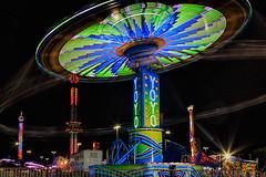 It's a YOYO Man! (PLFotografix) Tags: lights spin green virginia event motion yoyo swing colors outdoor 2016 longexposure fair statefair
