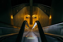 (archmnd) Tags: symmetrical subway stairs paris