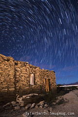 Terlingua Ghost Town Star Trails (Tyler Ellis Smith) Tags: star trails terlingua texas landscape light painting ghost town night polaris north