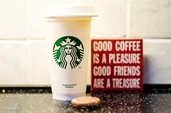 Take Out ~ Bring Home! (BGDL) Tags: lightroomcc nikond7000 bgdl niftyfifty afsnikkor50mm118g coffee latte biscuit kitchen starbucks mug 7daysofshooting week17 iconicbrands geometrysunday