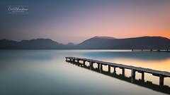 Vieil ami (cedric.chiodini) Tags: le longexposure poselongue lake lac annecy paysage landscape ponton sunset canon