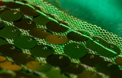 Sequins and Stitches (TPorter2006) Tags: macro mondays 2016 christmas green november rows sequins sewing stitch stocking tporter2006 texas macromondays