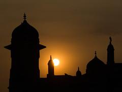 Lets pray for a better tomorrow (haqiqimeraat) Tags: sunset sun nikon dhaka bangladesh