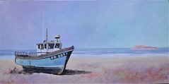 Fishing Boat (Art by MarkAC) Tags: old colourful fishing boat box deep edge cancas beach shore coast coastline sand art artwork acrylic texture painting sunny