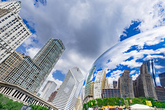 Distortion (Ben Hewitt) Tags: cloudgate chicago usa art mirror distortion city sky nikond800