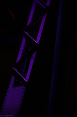 Brace (gbrands - Greg Brandsgard) Tags: edmonton longexposure purple alberta canada steel rivets highlevelbridge red