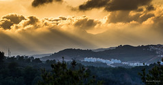 Sun rays on Mdiq - Morocco (Bouhsina Photography) Tags: rayons soleil montagne mdiq tétouan maroc morocco tetuan coucher ras tarf couleur bouhsina bouhsinaphotogrphy canon 7dii ef100mm wow brilliant