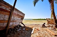 Boat Builder, Madagascar (Rod Waddington) Tags: madagascar africa afrique afrika malagasy boat builder shipwright wooden wood craftsman beach mangroves palm man working