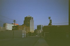 Downtown Greensboto (jbrighamphotography) Tags: nikonf photomic ftn nikon nikkor kodak ultramax expiredfilm filmphotography greensboro downtown city