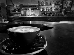 Afternoon Coffee (koki25ando) Tags: bw blackandwhite blackwhite afternoon coffee cafe monochrome iphone7