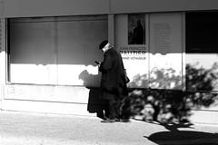 The great traveler (pascalcolin1) Tags: paris13 austerlitz traveler voyageur rauzier jeanfranoisrauzier homme man bret beret photoderue streetview urbanarte noiretblanc blackandwhite photopascalcolin arbre tree ombre shadow affiche poster