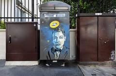 Buster keaton (HBA_JIJO) Tags: streetart urban graffiti pochoir c215 stencil art france artist christianguémy hbajijo painting peinture portrait celebrity paris94 paris93 spray pochoiriste cinema boiteàlettres vincennes busterkeaton festivalamerica