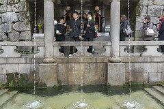 Success in studies (tmeallen) Tags: schoolboys schooluniforms makingawish pool catchingwater longhandledcup culture otowanotaki threestreams otowa waterfall kiyomizudera kyoto japan