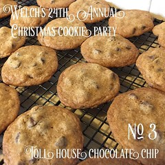 No. 3 Toll House Chocolate Chip Cookies   Welch's 24th Annual Christmas Cookie Party - Recipe: Back of any chip bag #cookies #food #christmas #christmasfood #chocolatechip #chocolatechipcookies (dewelch) Tags: ifttt instagram no 3 toll house chocolate chip cookies   welchs 24th annual christmas cookie party recipe back any bag food christmasfood chocolatechip chocolatechipcookies