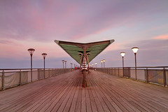 Boscombe Pier at Sunset mid (mpelleymounter) Tags: longexposure sunset seascape bournemouth boscombepier seaandsky dorsetcoastline bigstopper markpelleymounter wwwphotomarkscouk