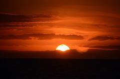 Coucher de soleil depuis le bateau