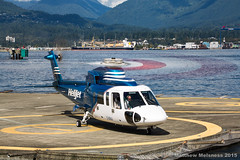 Canon 5D3 + 70-300L (helimat) Tags: vancouver helicopter heliport helijet sikorsky s76 cghjj cbc7