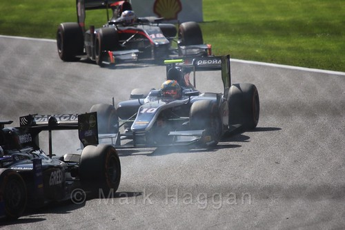 Artem Markelov in the GP2 Sprint Race at the 2015 Belgium Grand Prix