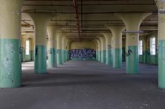 Supported II (Pas (sQualie)) Tags: toronto ontario graffiti nikon peelingpaint ue urbex pilars uer 2013 nikon1755mmf28 d7000