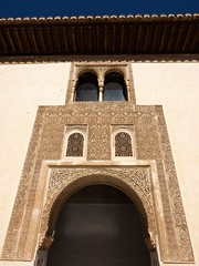 P6100102 (simonrwilkinson) Tags: window spain arch doorway arab alhambra granada andalusia courtofthemyrtles thenasridpalaces