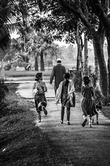 Teacher and The Student (Surza Sen) Tags: blackandwhite students monochrome teacher teaching bangladesh profession ruralareas