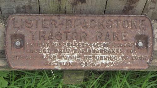 Lister-Blackstone Tractor Rake (P1060109)