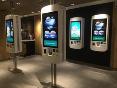 "May I Take Your Order  or ""We Are The Robots"" - Experimental Automated McDonalds Restaurant - Rue du Provence - Paris France - October 2015 (firehouse.ie) Tags: food paris france ronald restaurant golden big mac experimental fast arches du mcdonalds fries provence rue mcd royale automated"