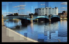 Trent Bridge, Nottingham (ldjldj) Tags: nottingham bridge forest ground trent photomontage hockney joiner nottinghamshire panograph