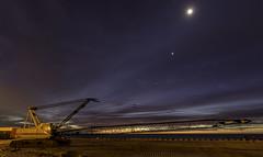 Long Branch Sunrise Crane (savedrev) Tags: ocean night sunrise stars newjersey crane