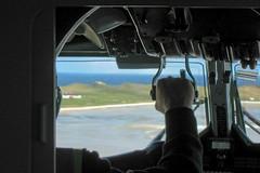 Flying to the Isle of Barra (frolair) Tags: scotland airport glasgow atlanticocean airstrip turboprop gla brr loganair castlebay twinotter 696 flybe isleofbarra dehavillandcanada dhc6 twinengined gbzfp passengerflight egpr outerhebrids
