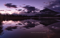 Dawn At Vermillion Lake (chasingthelight10) Tags: mist canada places things banffnationalpark canadianrockies vermilionlake