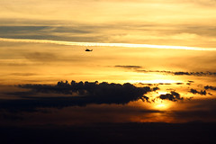 Sunset with Helijet (A.G. Buron Photography) Tags: sunset clouds helicopter helijet armandburon