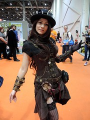 """MCM ComicCon 2015 - 3 (Terterian - A million+ views, thanks.) Tags: city uk costumes england woman anime london girl mystery female october pretty comic cosplay centre capital manga culture retro fantasy convention gathering gb scifi horror docklands characters 24 fans brunette popular comiccon crowds con alternative excel mem steampunk fanzine newham 2015 """"dressing up"""" """"fancy dress"""""""