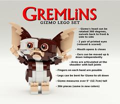 Gremlins Gizmo LEGO Set - 2 (buggyirk) Tags: set movie lego retro 80s gizmo ideas gremlins moc afol buggyirk