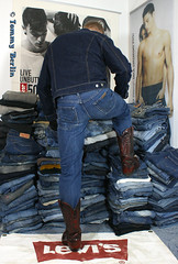 self2805 (Tommy Berlin) Tags: men ass butt jeans ars cowboyboots wrangler levisjacket