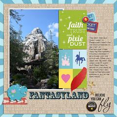 Fantasyland Cover (girl231t) Tags: 04year 0photos 0scrapbooking 2015 zzmyscrapbookpages scrapbook layout 12x12layout digi disney disneyland projectmouse