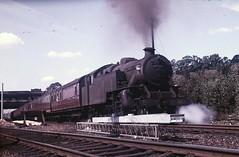 LMS Class 4MT 2-6-4T no 42219 Leigh  on Sea, Simmer 1961 (kitmasterbloke) Tags: vintage outdoor railway steam essex leighonsea 1961 tankengine lms 42219 ltsr 264t loconotive londontilburysouthend