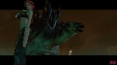 World's Most Dangerous Selfie - Stegosaurus (Tammy-Jones (accepting clients and critique)) Tags: sexy dangerous dinosaur redhead prehistoric stegosaurus busty selfie