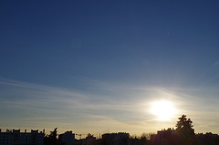 sun (elleli26) Tags: blue light sunset sky cloud sun sunshine outside evening land